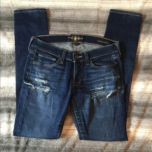 Lucky Brand Charlie Skinny distressed jeans size 4